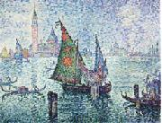 Paul Signac The Green Sail,Venice oil painting picture wholesale