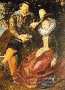Peter Paul Rubens Rubens with His First Wife, Isabella Brandt, in the Honeysuckle Bower oil painting artist