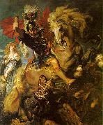 Peter Paul Rubens St George and the Dragon oil painting artist