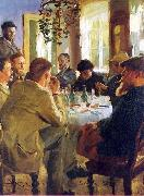 Peter Severin Kroyer The Artists Luncheon oil painting picture wholesale