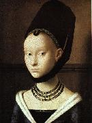 Petrus Christus Portrait of a Young Woman oil painting picture wholesale