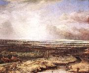 Philips Koninck An Extensive Landscape with a Hawking Party oil painting artist
