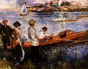 Pierre Renoir Oarsmen at Chatou oil painting picture wholesale