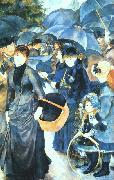 Pierre Renoir Umbrellas oil painting
