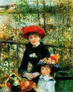 Pierre Renoir On the Terrace oil painting picture wholesale