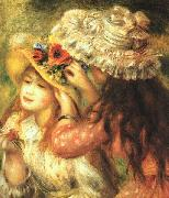 Pierre Renoir Girls Putting Flowers in their Hats oil painting picture wholesale