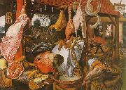 Pieter Aertsen  Butcher's Stall with the Flight into Egypt oil painting picture wholesale
