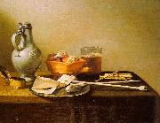 Pieter Claesz Pipes and Brazier oil painting artist