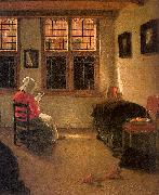 Pieter Janssens Elinga Woman Reading_l oil painting artist