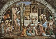 Raphael The Fire in the Borgo oil painting artist