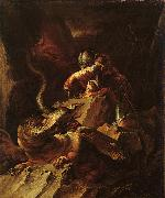 Salvator Rosa Jason Charming the Dragon oil painting picture wholesale