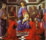 Sandro Botticelli Madonna and Child with Six Saints oil painting artist