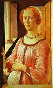 Sandro Botticelli Portrait of a Lady oil painting artist