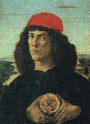 Sandro Botticelli Portrait of a Man with a Medal oil