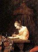 TERBORCH, Gerard Woman Writing a Letter a oil painting picture wholesale