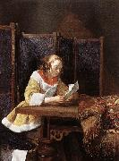 TERBORCH, Gerard A Lady Reading a Letter eart oil painting picture wholesale