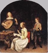TERBORCH, Gerard The Concert sg oil painting artist