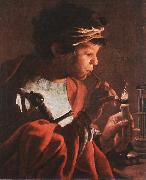 TERBRUGGHEN, Hendrick Boy Lighting a Pipe aer oil painting picture wholesale