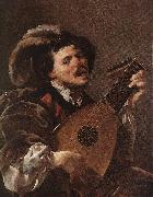 TERBRUGGHEN, Hendrick Lute Player awr oil painting picture wholesale