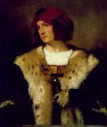 TIZIANO Vecellio Portrait of a Man in a Red Cap er oil painting picture wholesale