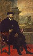 TIZIANO Vecellio Portrait of Charles V Seated  r oil painting picture wholesale
