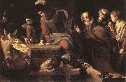 TOURNIER, Nicolas Denial of St Peter er oil painting artist