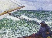 Theo Van Rysselberghe Man at the Helm oil painting picture wholesale