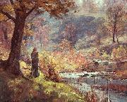 Theodore Clement Steele Morning by the Stream oil painting picture wholesale