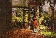 Theodore Clement Steele Woman on the Porch oil painting picture wholesale