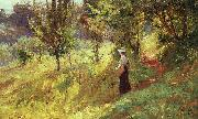 Theodore Clement Steele Berry Picker oil painting picture wholesale