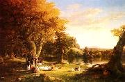 Thomas Cole The Hunter's Return oil painting picture wholesale