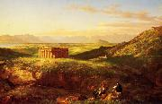 Thomas Cole Temple of Segesta with the Artist  Sketching oil painting picture wholesale