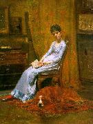 Thomas Eakins The Artist's Wife and his Setter Dog oil painting picture wholesale