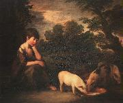 Thomas Gainsborough Girl with Pigs oil painting picture wholesale