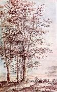 UDEN, Lucas van Landscape with Tall Trees dg oil painting picture wholesale