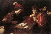 VALENTIN DE BOULOGNE Card-sharpers at oil painting picture wholesale
