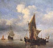 VELDE, Willem van de, the Younger Calm Sea wet oil painting picture wholesale