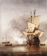 VELDE, Willem van de, the Younger The Cannon Shot we oil painting picture wholesale