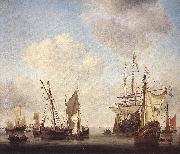 VELDE, Willem van de, the Younger Warships at Amsterdam rt oil painting picture wholesale