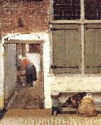 VERMEER VAN DELFT, Jan The Little Street (detail) wt oil painting picture wholesale
