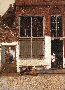 VERMEER VAN DELFT, Jan The Little Street (detail)  et oil painting picture wholesale