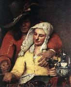 VERMEER VAN DELFT, Jan The Procuress (detail) wer oil painting picture wholesale