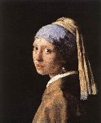 VERMEER VAN DELFT, Jan Girl with a Pearl Earring er oil painting reproduction