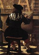 VERMEER VAN DELFT, Jan The Art of Painting (detail) wer oil painting picture wholesale