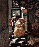 VERMEER VAN DELFT, Jan The Love Letter kgu oil painting picture wholesale