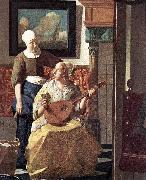 VERMEER VAN DELFT, Jan The Love Letter (detail) kyi oil painting picture wholesale