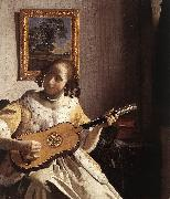 VERMEER VAN DELFT, Jan The Guitar Player rqw oil painting picture wholesale