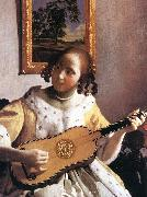 VERMEER VAN DELFT, Jan The Guitar Player (detail) awr oil painting picture wholesale
