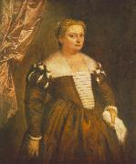 VERONESE (Paolo Caliari) Portrait of a Venetian Woman we oil painting picture wholesale