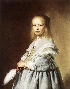 VERSPRONCK, Jan Cornelisz Girl in a Blue Dress wer oil painting picture wholesale